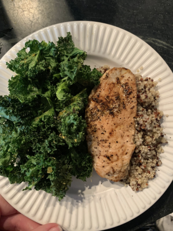 Easy Lunch Recipe: Chicken, Quinoa, and Kale. Photo Credits to Phoebe Brinker