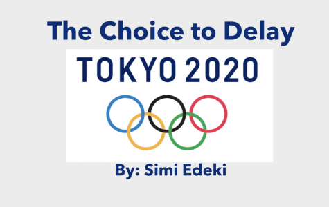 The Choice to Delay the Tokyo 2020 Olympics by Simi Edeki  Graphic By: Lauren Raziano