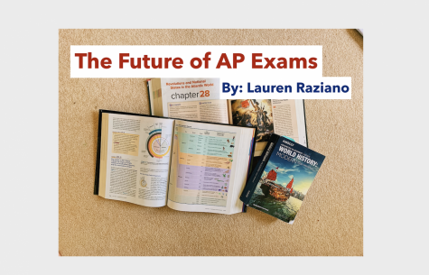 A display of AP Biology, AP European History, and an AMSCO AP World History Textbook