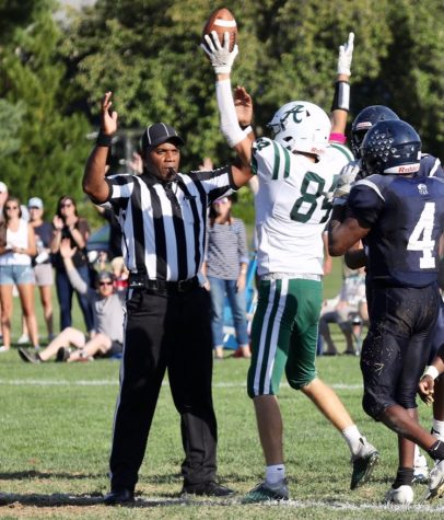 Max Ewing celebrates his touchdown to extend the Auks lead. Photo taken by Mr. Zondlo P21